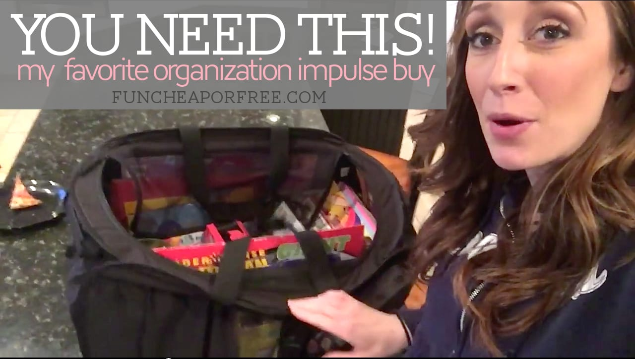 How a pop-up organization hamper can make your life WAY easier. From FunCheapOrFree.com