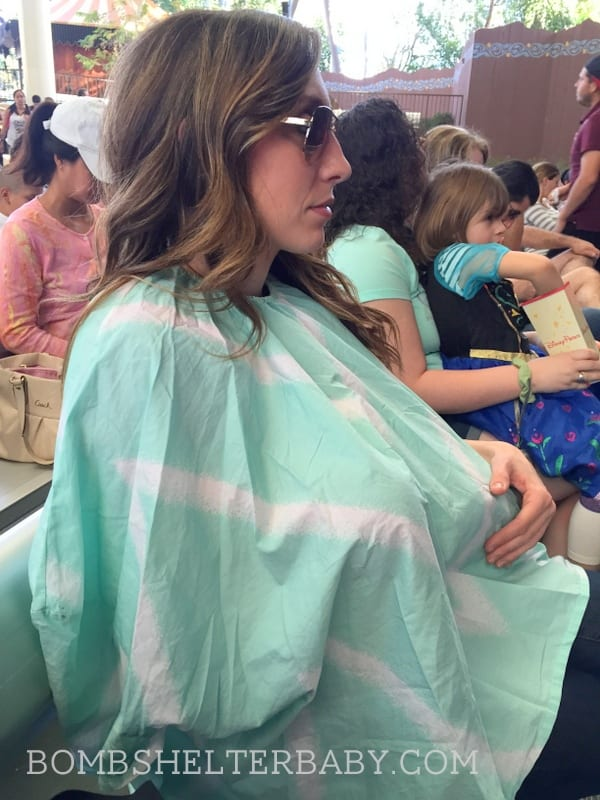 the Bomb Shelter cover - 360 degree nursing cover with sleeves!