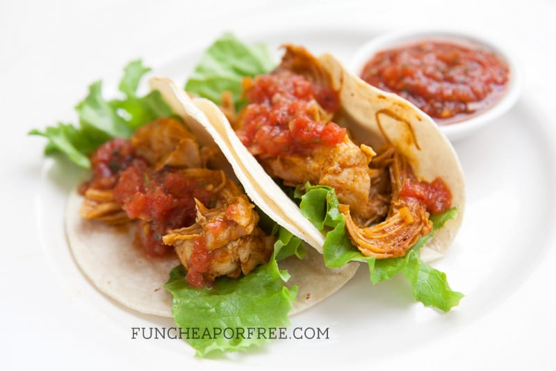 3 easy, 10-minute recipes using the SAME chicken taco leftovers! Includes recipe printable, from FunCheapOrFree.com