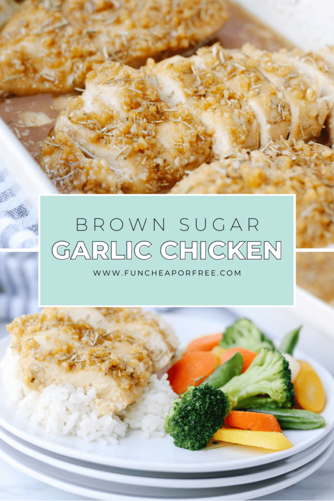 Easy chicken dinner on a plate, from Fun Cheap or Free