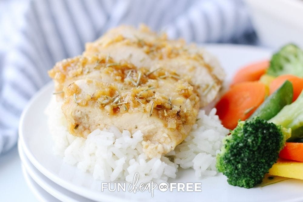 chicken with veggies and rice, from Fun Cheap or Free