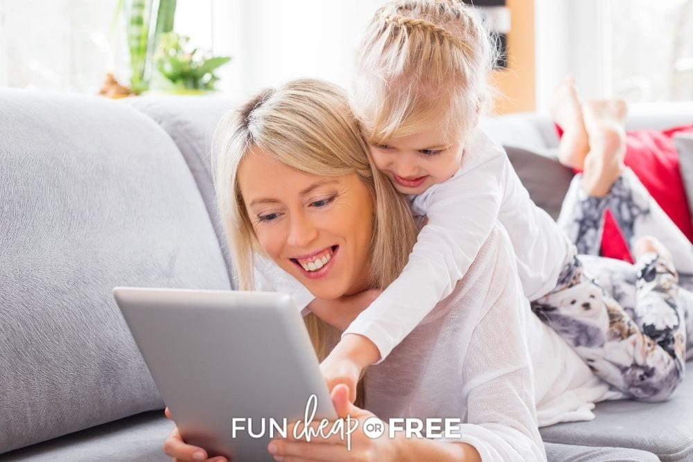 mom and daughter using ipad, from Fun Cheap or Free