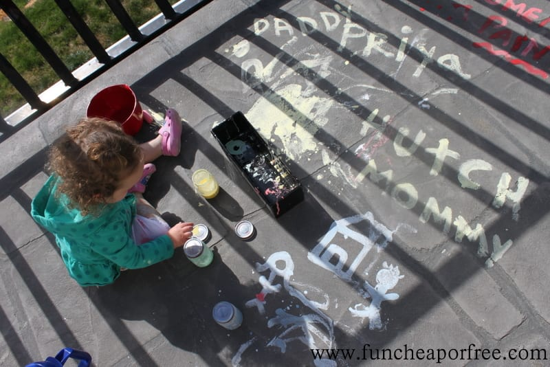 3 Ingredient Homemade Sidewalk Paint Recipe (Summer Boredom Buster!!)