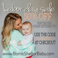 Bomb Shelter Baby full coverage nursing cover sale 50% off! [Frugal Fi..