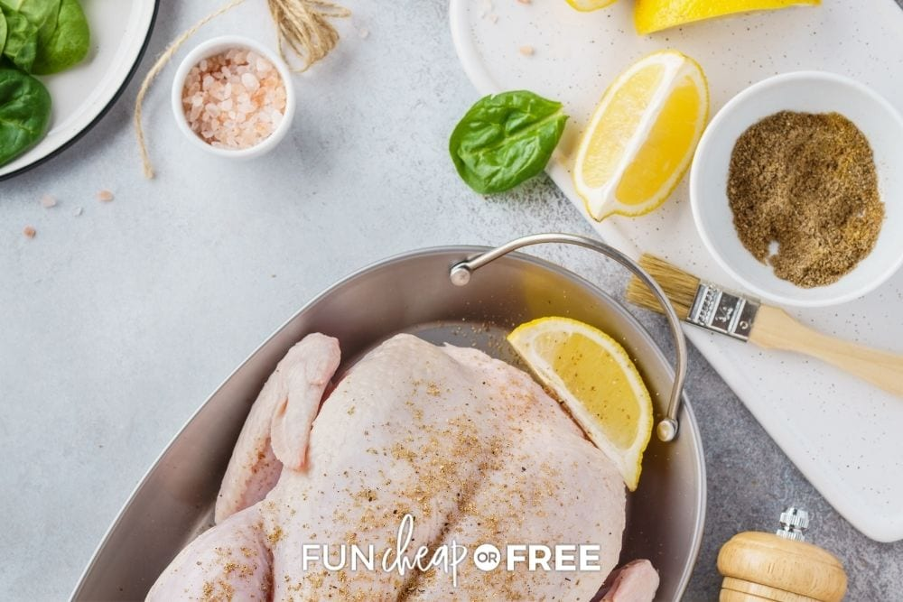 whole raw chicken, from Fun Cheap or Free