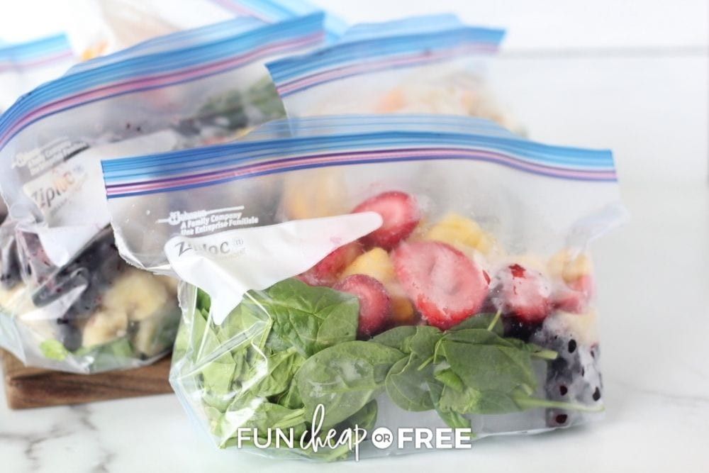 bags of frozen fruit, from Fun Cheap or Free