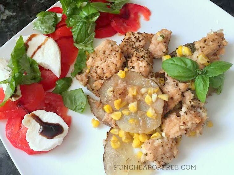 THE BEST CHICKEN EVER! 5 ingredients + seasoning, so quick and easy...a favorite for sure! Recipe from FunCheapOrFree.com