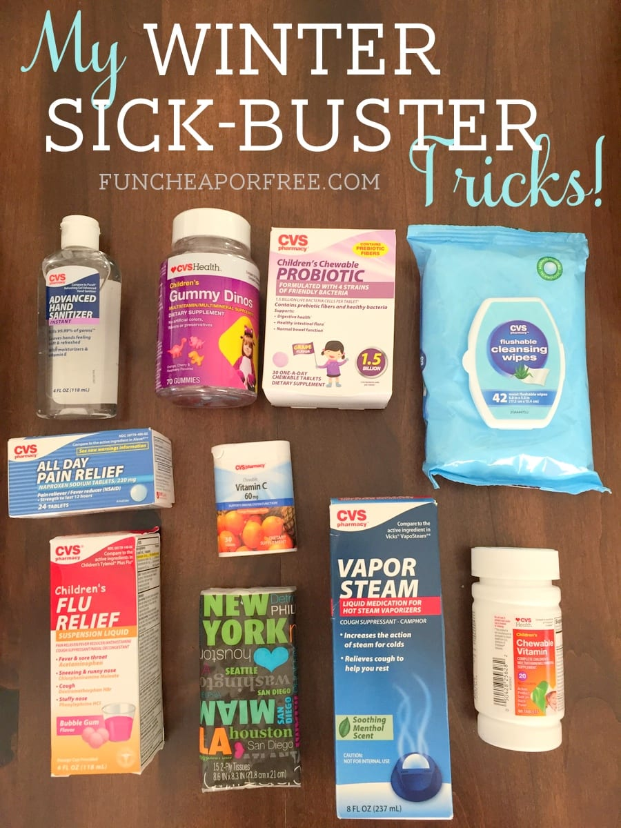 How I arm myself against winter, with sickness-prone kids! From FunCheapOrFree.com
