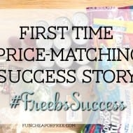First Time Price-Matching Success! [Freebs Success Story: Rebecca]