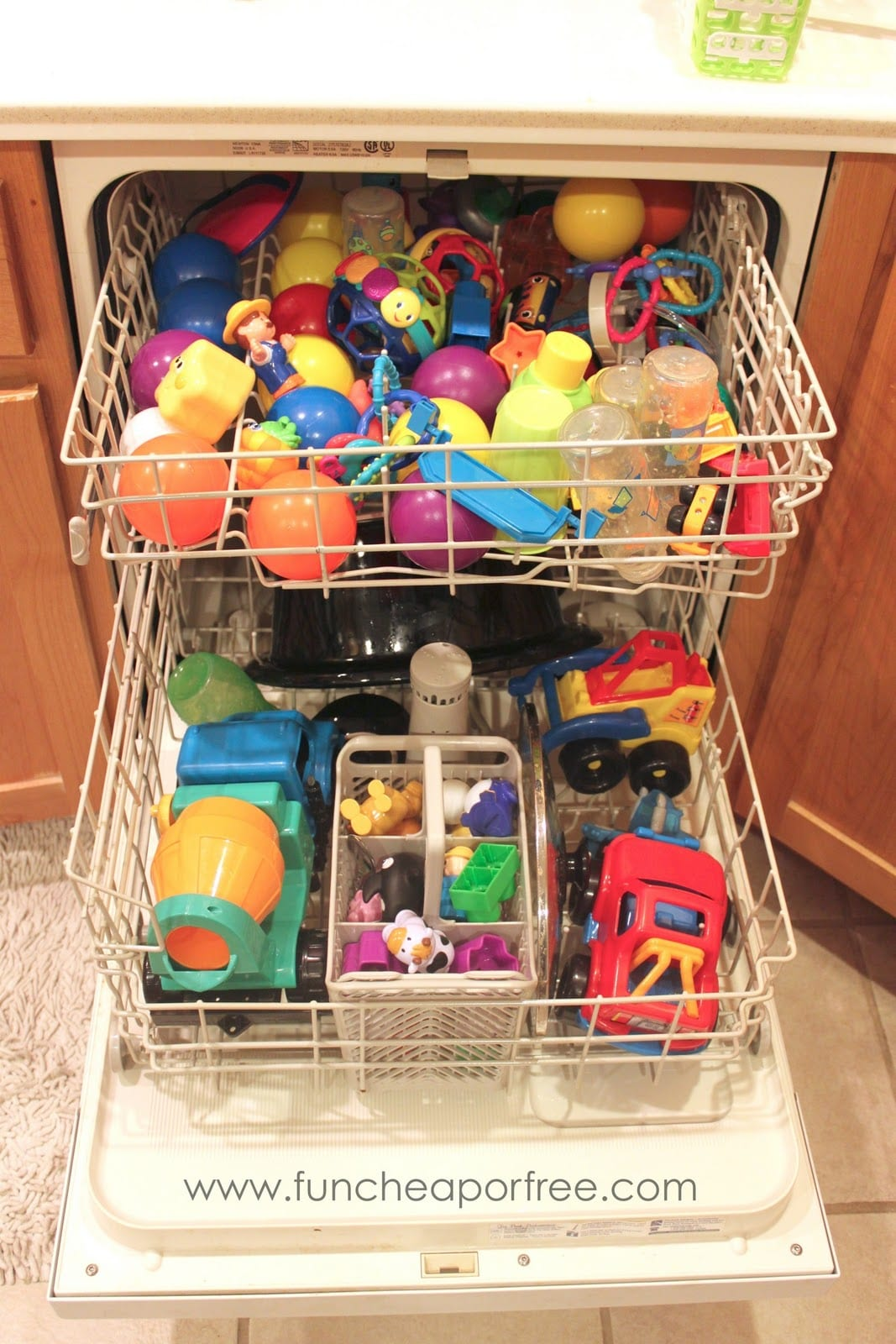 The EASIEST way to de-germ toys! From FunCheapOrFree.com