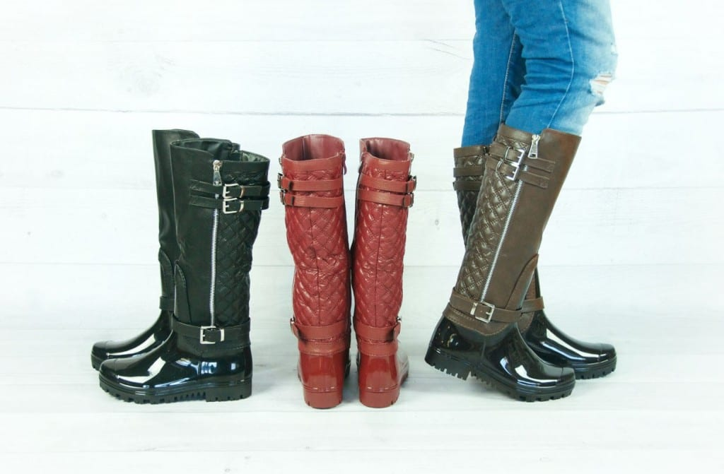 Quilted rain boots reg $79.99 now just $34.99!
