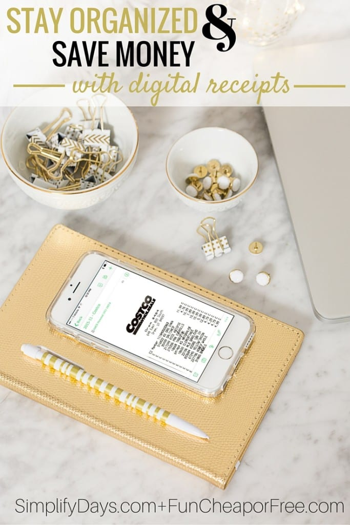 SUCH A GOOD IDEA!! How to make your receipts digital to stay organized and save money this year! From FunCheapOrFree.com