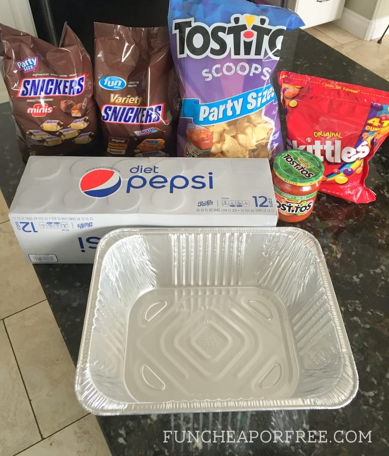 SUPER easy DIY Snack Stadium tutorial for the BIG GAME! From FunCheapOrFree.com