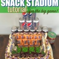 Easy DIY Snack Stadium Tutorial for the BIG GAME! #GameDayGlory