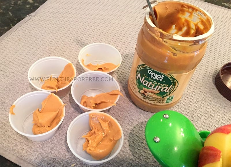 DIY Peanut Butter To-Go Cups! Easy, cheap, and healthy snack to pack on-the-go! www.FunCheapOrFree.com