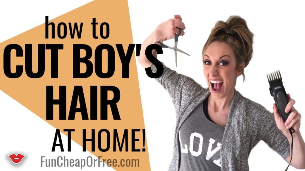 Cut boy's hair at HOME, in under 15 minutes!! Step by step video, must-watch!!! www.FunCheapOrFree.com