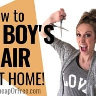 How to Cut Boys Hair at Home! (in under 15 minutes!!)