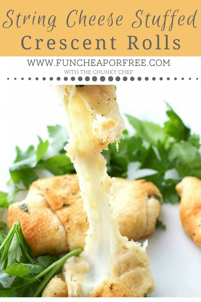 String cheese, canned crescent rolls, herbs and butter - OH MY! Easiest wow-factor rolls EVER! From FunCheapOrFree.com