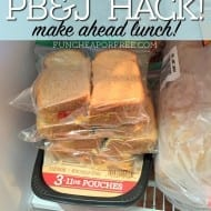 Freezer PB&J Sandwiches: Best Lunch Hack EVER