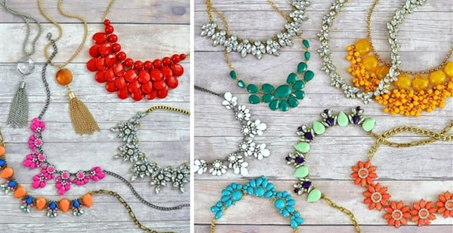 Wear a pop of color, and make a statement! These necklaces are beautiful, and under $6.00. SERIOUSLY! www.FunCheapOrFree.com