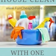 Keep your house clean with 1 chore per day! [FREE PRINTABLE!]