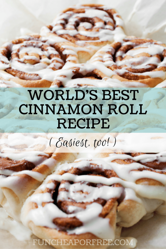 Holy CINNAMON ROLLS, Batman!! And from a BREAD MACHINE! You won't believe how easy they are, and so stinking good! Recipe from FunCheapOrFree.com