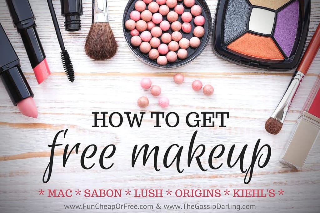 How to get FREE makeup from all your favorite brands! MAC, Lush, Sabon, Kiehl's and MORE! Get the scoop! www.FunCheapOrFree.com