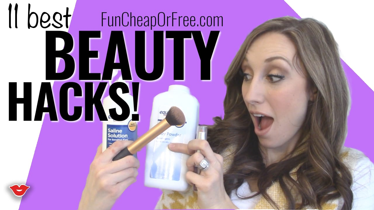 11 Beauty Hacks you NEED to know! www.FunCheapOrFree.com