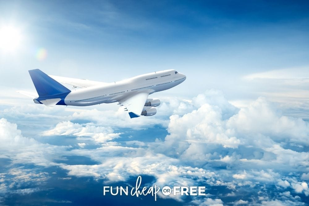 airplane flying above clouds, from Fun Cheap or Free