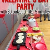 That time I threw a Valentine's Day party in like, 5 minutes