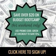 Budget Boot Camp – 15% OFF! [this weekend ONLY!]
