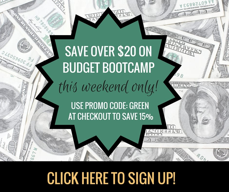 Budget Boot Camp - the no-fluff, ant-stress budgeting program that is fun and easy to use! www.BudgetBootCamp.com