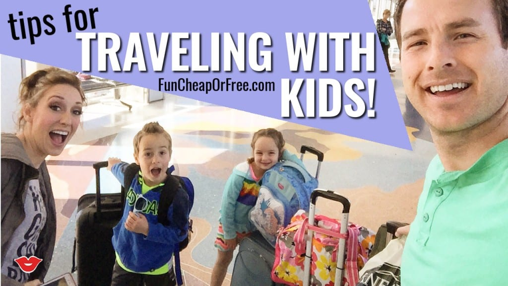 Tips for how to travel with kids in the car, or on the plane, and live to tell about it! Stress-free vacations, and happy kids -- you have to see these tips! www.FunCheapOrFree.com