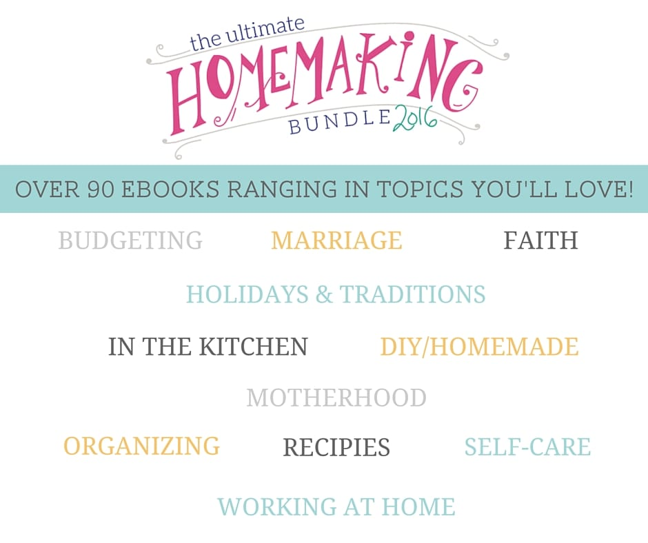The ULTIMATE Homemaking Bundle! Get over 90 Ebooks for under $30! Topics range from cooking, and cleaning to organizing and relationships! Plus, my 81 Slow Cooker Recipe book is included!! www.FunCheapOrFree.com/Bundle