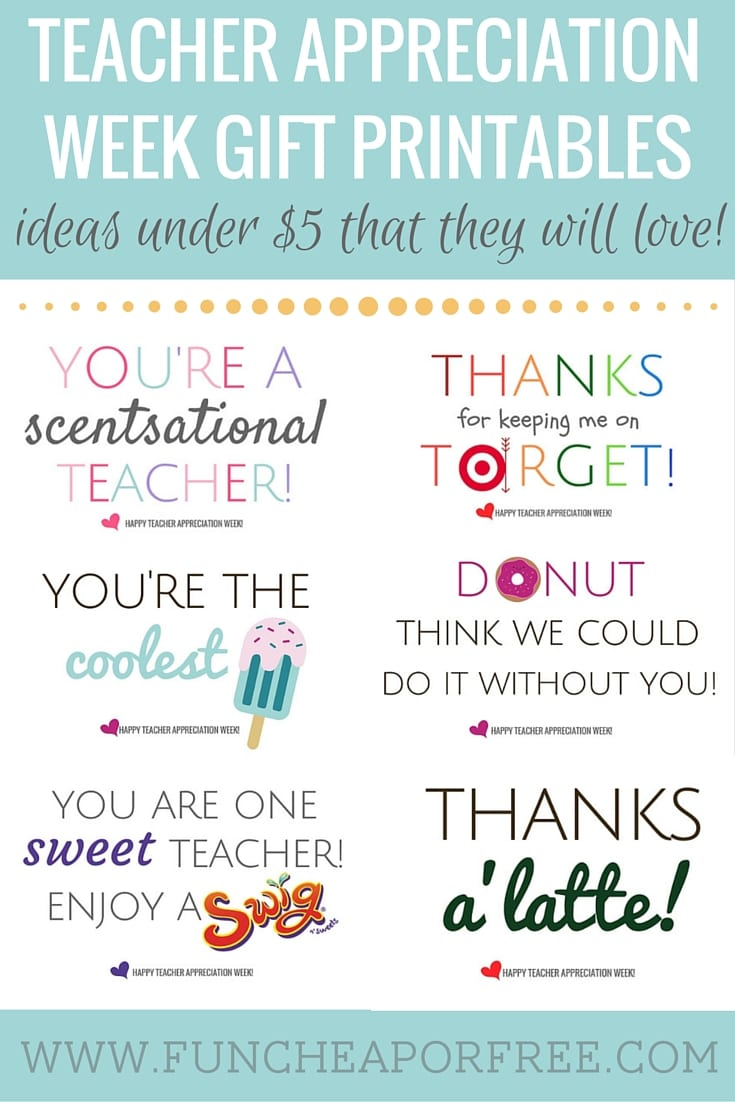 graphic about Free Printable Teacher Appreciation Cards to Color identified as Instructor Appreciation Printables - Items Down below $5! - Exciting
