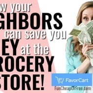 How your NEIGHBORS can save you money at the grocery store!