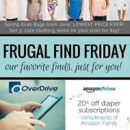 Free E-books and audio books, $15 grab bags, diaper coupons & mor..