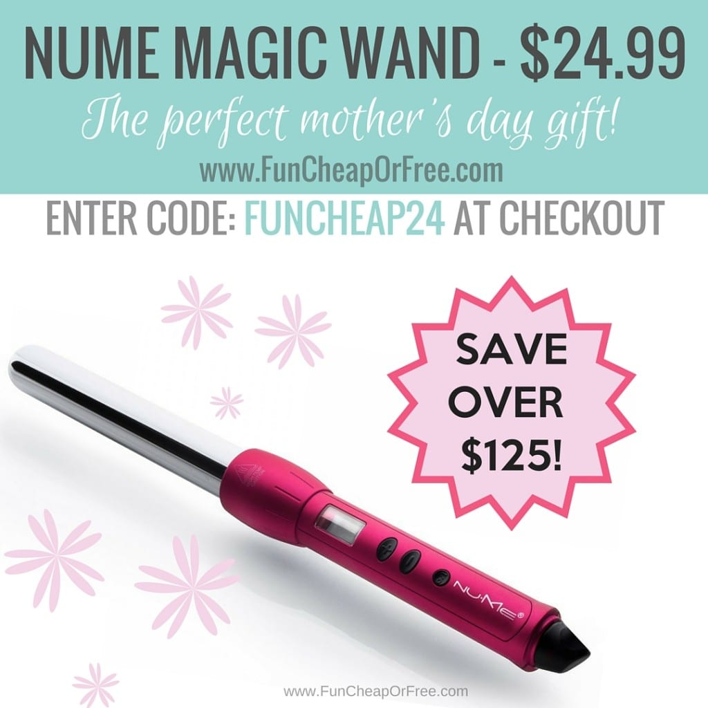 BIG savings on curling wands (75% off!), FREE online music streaming, and 50% off at Shutterfly! Mother's Day made easy! Frugal Find Friday at www.FunCheapOrFree.com!