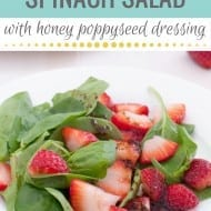 Strawberry Spinach Salad + Homemade Honey Poppy Seed Dressing Recipe! ..