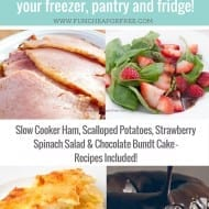 Homemade Ham Dinner made COMPLETELY from pantry, fridge, and freezer! ..