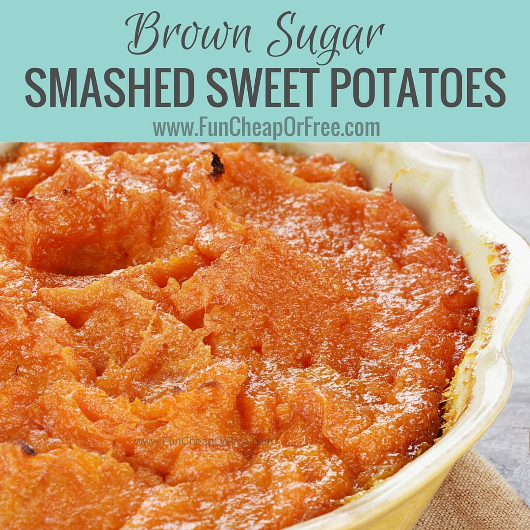 How to make mashed sweet potatoes - SO DANG EASY and SO DANG GOOD! From FunCheapOrFree.com