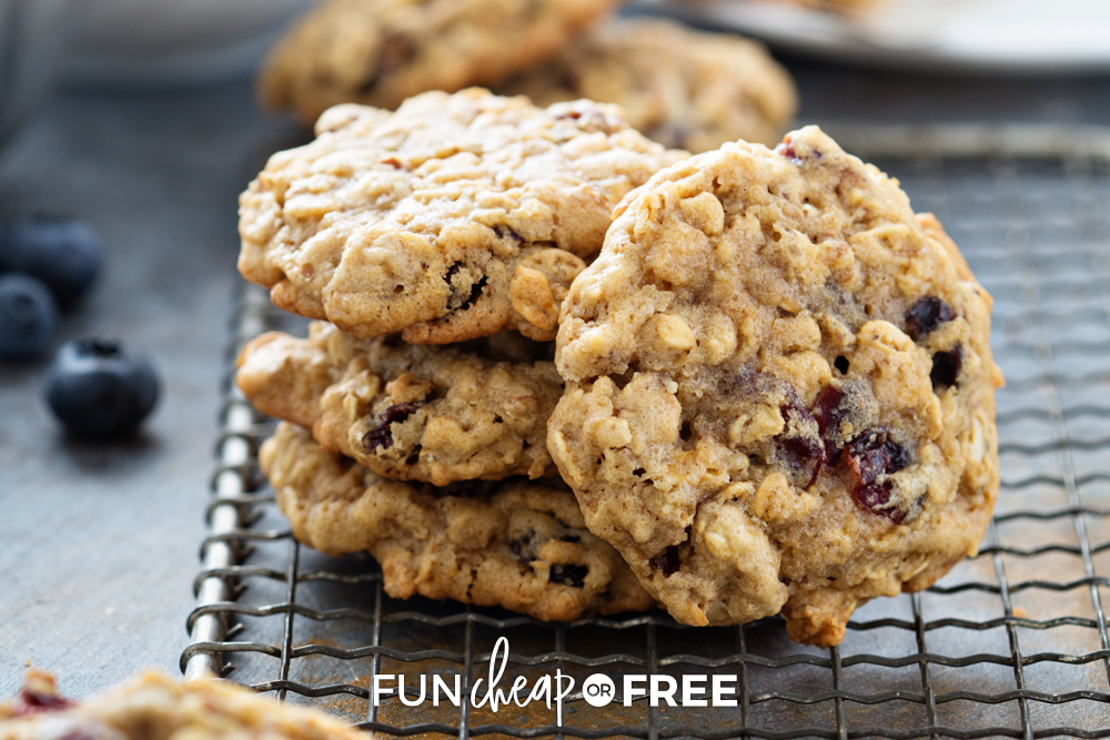oatmeal cookies on a rack, from Fun Cheap or Free