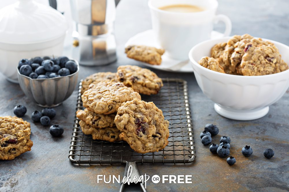 oatmeal cookies in a bowl, from Fun Cheap or Free