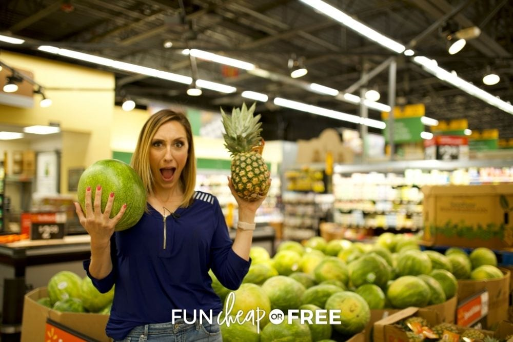 Jordan Page holding fruit, from Fun Cheap or Free