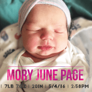 Baby Girl is HERE! Meet Baby Mory :)