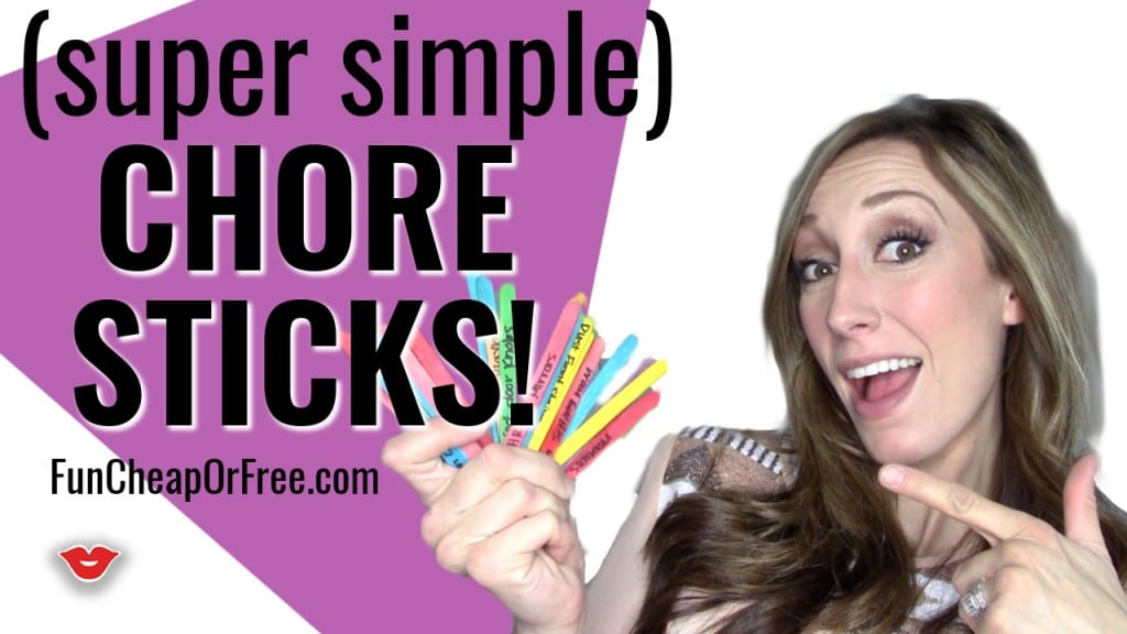 "Chore sticks! Possibly the easiest ""chore chart"" EVER! (and works SO WELL!) From FunCheapOrFree.com"