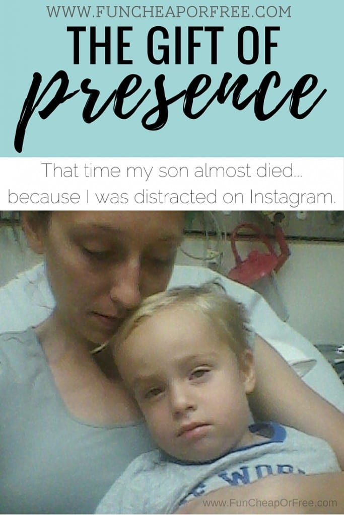 The gift of presence - the story of how a mom didn't notice her son drowning because she was on Instagram.