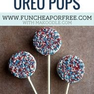 3 Ingredient Patriotic Oreo Pops – Easy 4th of July Dessert!