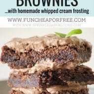 World's Best Brownie Recipe (…with Homemade Whipped Cream ..