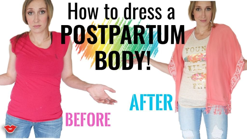 Simple tips for dressing a postpartum body - AFFORDABLY! From FunCheapOrFree.com